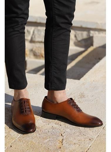 Ayakland Ayakland P100 %100 Deri Klasik Erkek Ayakkabı Taba